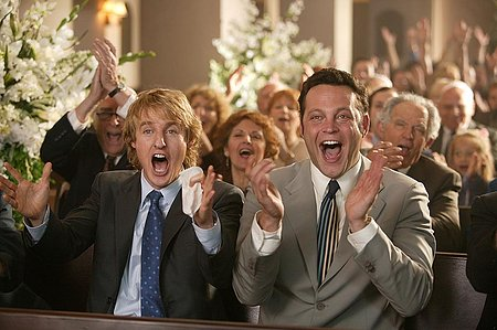 Vince Vaughn and Owen Wilson Wedding Crashers scene